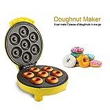 Machine à Beignets Appareil à Donuts Jaune, PP et Alliage de Titane, DIY à la...