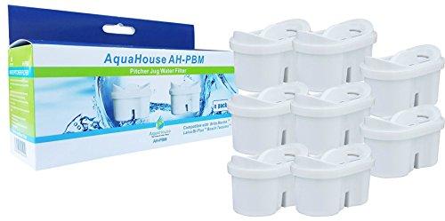Aquahouse Wasserfilterpatronen Kompatibel mit Brita Filterkartuschen Maxtra - Pack 8