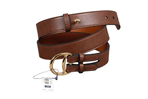 Chaps Women's Faux Leather Front Prong Buckle Brown Belt Large