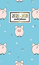 2020-2021 Pocket Planner: Nifty Two-Year (24 Months) Monthly Pocket Planner and Agenda | 2 Year Organizer with Phone Book, Password Log & Notebook | Pretty Cartoon Pig Pattern