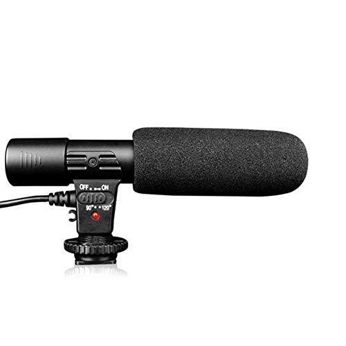 Runfon - Micrófono para cámara réflex digital de 3,5 mm con micrófono para cámara réflex digital