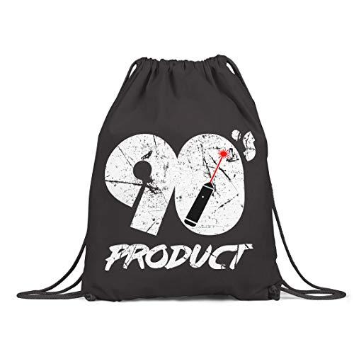 BLAK TEE 90s Product Laser Pointer Organic Cotton Drawstring Gym Bag Black