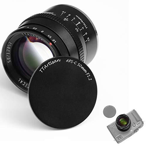 TTArtisan 50mm F1.2 Lente APS-C Cámaras Lente MF Compatible con Leica L Mount TL2 T TL CL SIGMA FP Mount Cámaras
