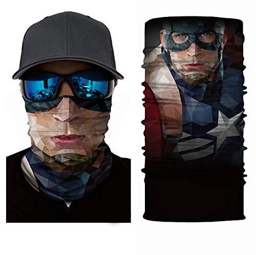 KGDUYH Beau Multifonction tête écharpe Bandana Équitation/Vélo tête Wrap Echarpes extérieur Mouchoir 3pcs pour Les Femmes, Les Hommes (Color : A, Size : 25x50cm)
