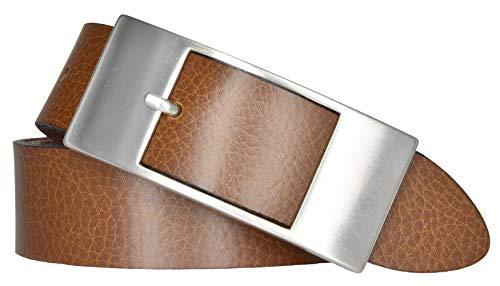 Mytem-Gear Damen Leder Gürtel 35 mm Nappaleder Damengürtel (105 cm, cognac)