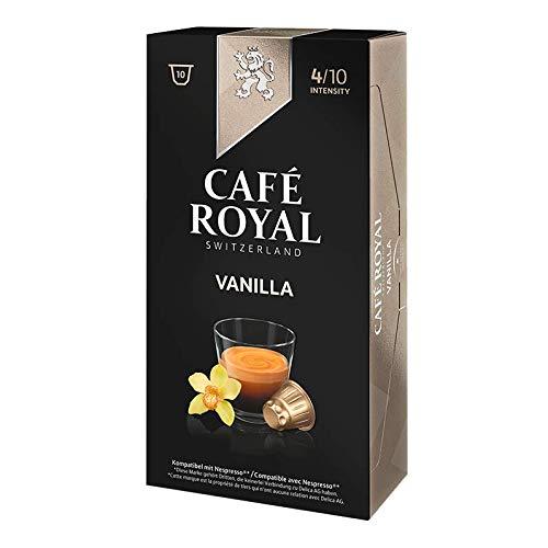 Cafe Royal Vanille Geschmack Nespresso kompatibel Kaffeepads 10pro Pack