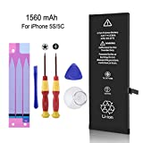 iphone 5c model a1532 - LIKEGOR Battery for iPhone 5S and 5C,1560mAh New Replacement kit with Repair Tools and Instructions-Original USA TI Chip -12 Months Warranty
