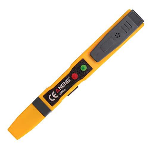 FangWWW AC/DC Spannungsprüfer Elektrischer berührungsloser Stiftprüfer Durchgangsprüfer Batterie Test Bleistift mit Schalllicht Alarm VD806