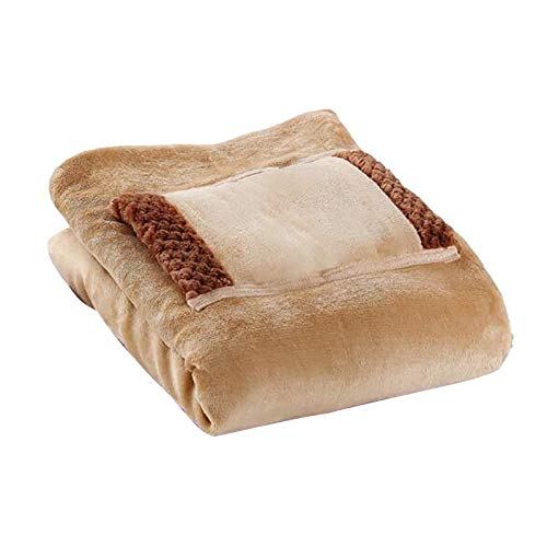 jieGorge Heated Blanket Soft Electric USB Blanket Machine Washable For Home Travel Office, Home Textiles, for Easter Day (Brown)
