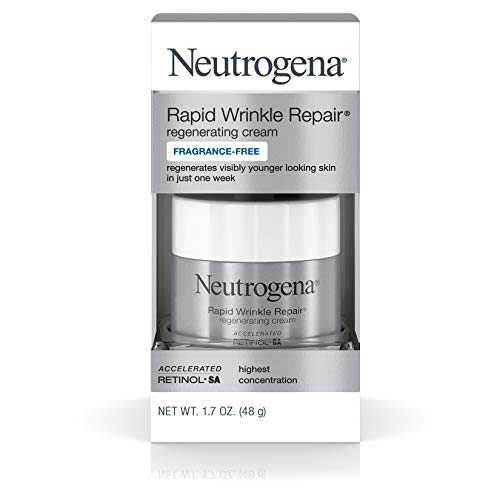 Neutrogena Rapid Wrinkle Repair, Regenerating Cream, 1.7 Oz