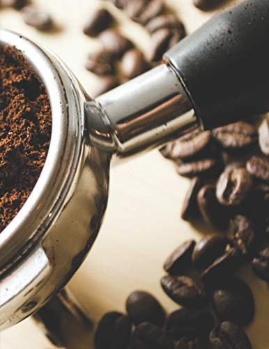 Kaffee Tasting Buch: Dein persönliches Verkostungsbuch zum selber ausfüllen ♦ für über 100 verschiedene Kaffeesorten ♦ Egal ob aus europäischen, ... A4+ Format ♦ Motiv: Siebträger
