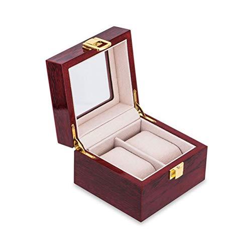 Equipaje Caja De Reloj De Madera De Lujo, Cajas De Soporte De Madera Con 5 Ranuras Para Hombres, Mujeres, Caja Organizadora De Relojes, 2 3 5 12 Rejillas, Organizadores De Relojes ( Color : 2 slots )