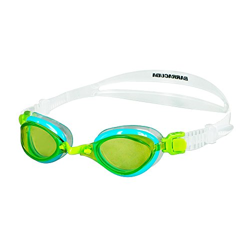 Barracuda Junior Swim Goggle Fenix JR - Patented TriFushion System, Anti-Fog UV Protection, Easy Adjusting Quick Fit Lightweight No Leaking, Competition for Children Ages 7~15#73855 (Yellow) -  Barracuda International