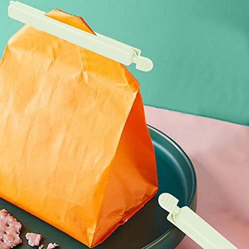 Abrazadera de sellado de sellador de bolsas, herramienta de sellado de alimentos, para chips de bocadillos de pan de alimentos(green)