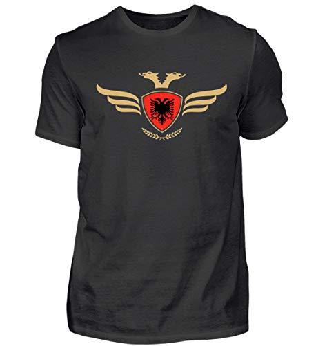 Hochwertiges Herren Shirt - Albanien Fahne Fussball Fanshirt Albania Flagge Albanischer Adler Albanien Wappen