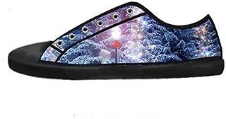 Custom Men's Fashion DIY Image Tree Winter Snow New Sneaker Canvas Shoes