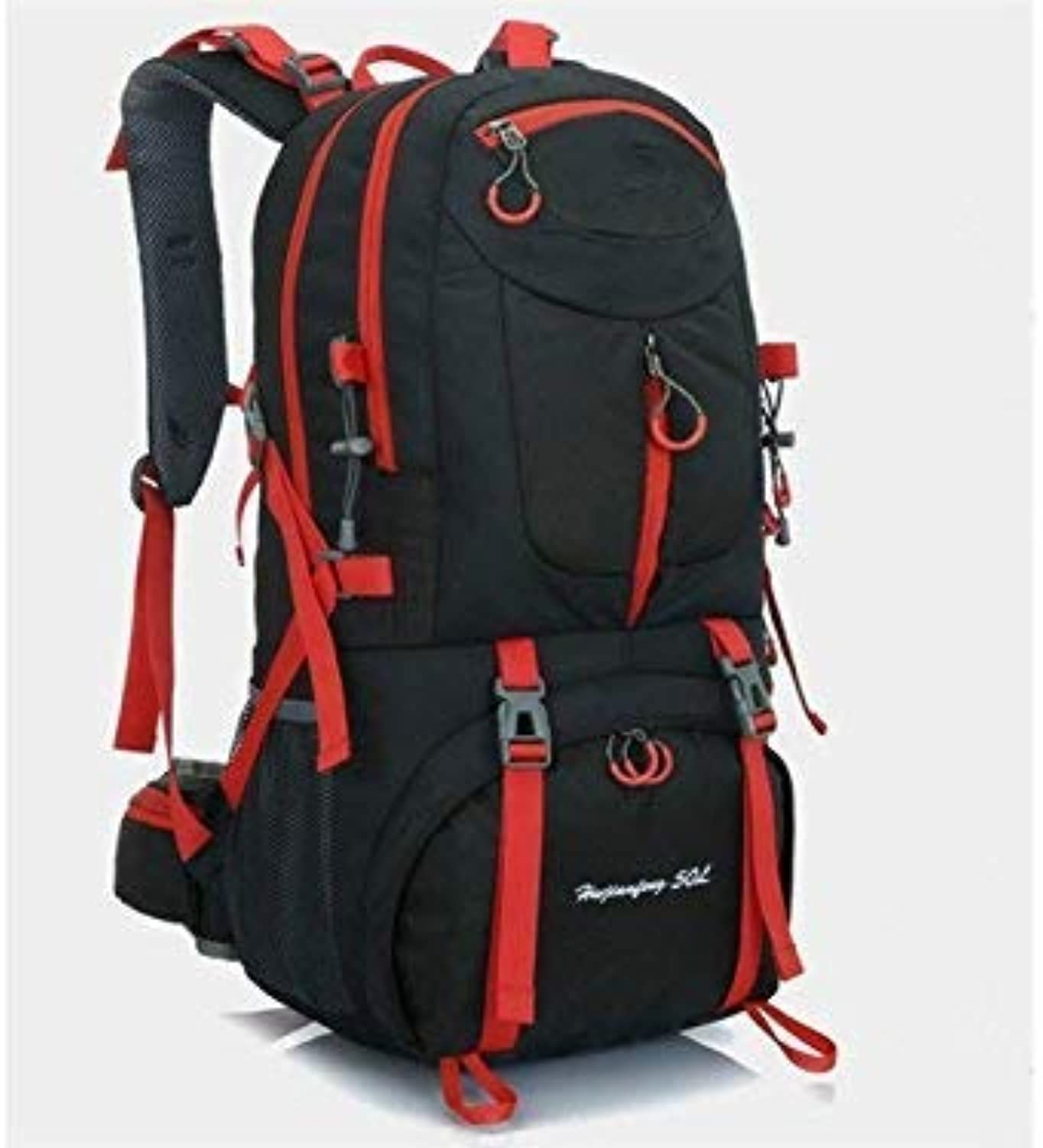Outdoor Bags, Outdoor and Indoor 60L Sports Outdoor Backpack Climbing Bag Hiking Camping Backpack(Black)