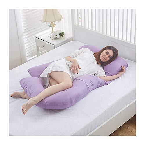 Pregnancy Pillow Kissen, Schwangerschaftskissen Body Pillow, Entlasten Sie Die Nackensteifheit, 160x100cm (Color : Purple, Size : 160x100cm)
