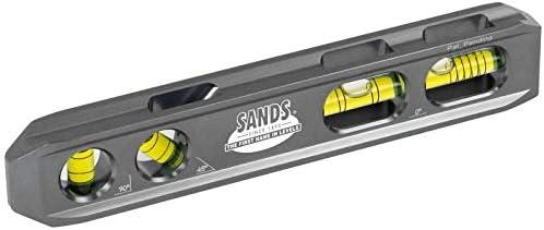 """Sands Level Tool Co. SL82B Product Vials Billet 4 8"""" 5 popular Aluminum"""