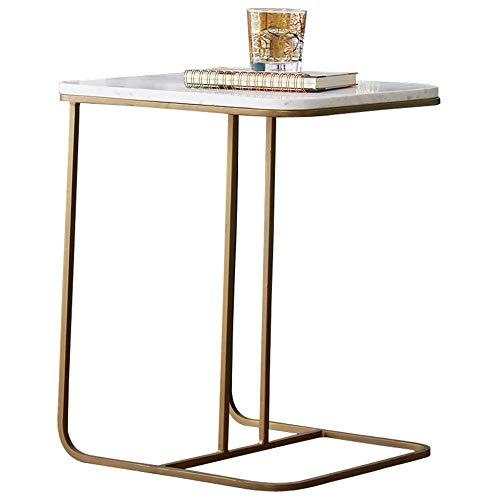 HANSHAN Tables Tables d'extrémité, Table d'appoint de canapé en métal pour Table C de Table de Casse-croûte de Petits espaces pour Le Salon 20 × 15 × 23 Pouces Multifonction