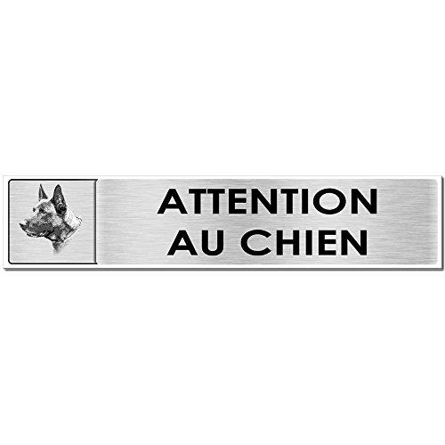 Autocollant.fr Plaque attention au chien malinois
