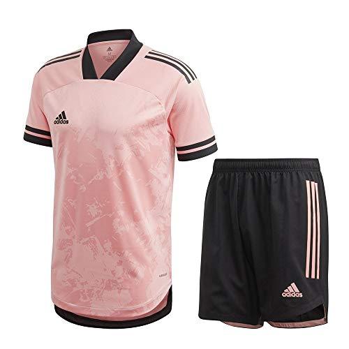 adidas Fußball Condivo 20 Trikotset Trikot Shorts Trainingsset Herren pink schwarz Gr XL