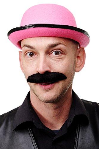 Dress Me Up - Karneval Fasching Halloween falscher Bart Schurrbart Schnauzer schwarz sehr breit - MM-71