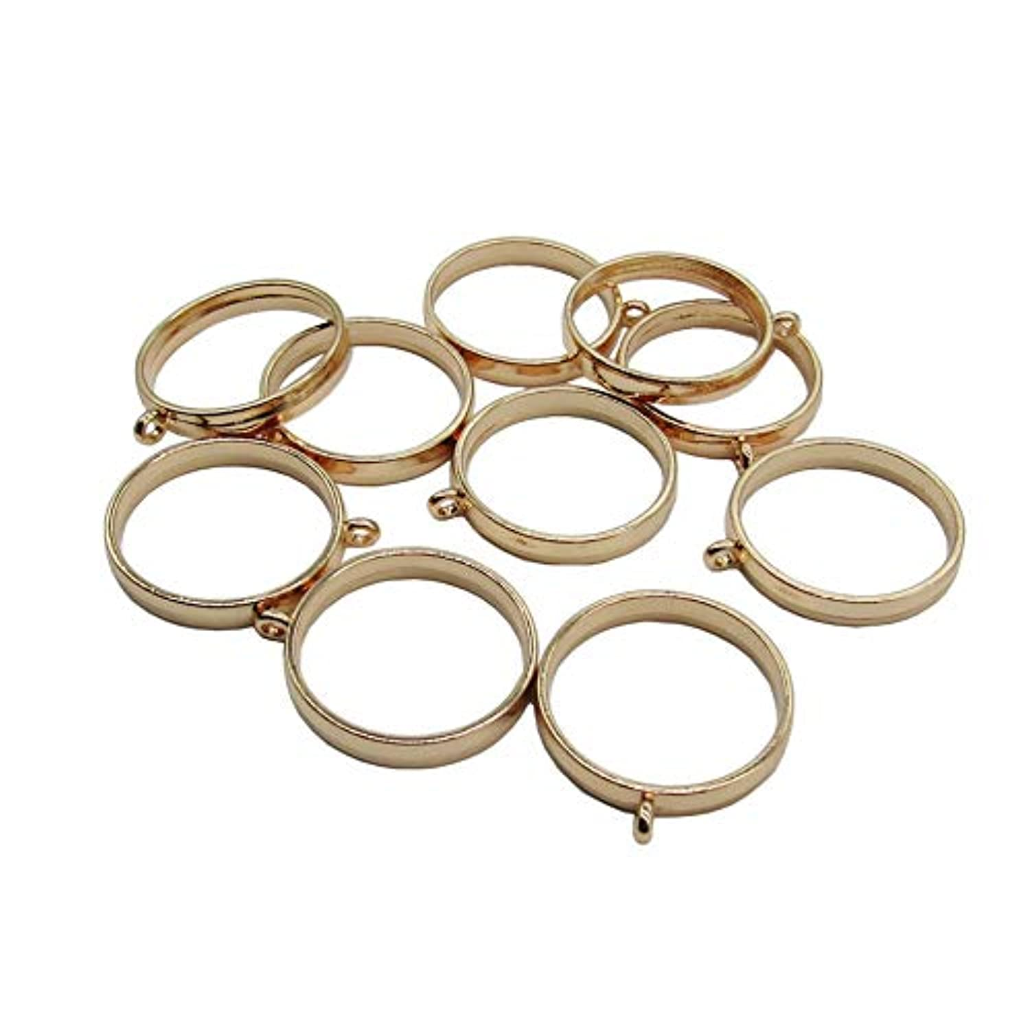 10 Pcs 25mm Gold Round Open Back Bezel Pendant Zinc Alloy Round Frame Pendant with 1 Loop for Jewelry Making