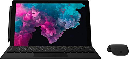 Microsoft Surface Pro 6 12.3' (2736 x 1824) Touch Screen - Intel 8th Gen Core i5 (up to 3.40 GHz) - 8GB Memory - 256GB SSD - with Keyboard, Surface Pen and Arc Mouse - Black (Renewed)