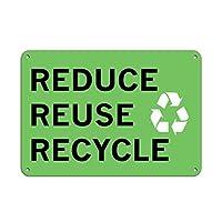 リデュース、リユース、リサイクル。金属スズサイン通知街路交通危険警告耐久性、防水性、防錆性