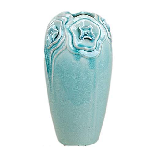 YWSZJ Jarrón de cerámica para flores, arreglo de flores Ikebana, contenedor de hidroponía decorativo, decoración del hogar, centros de mesa, jarrones, arreglos para decoración del hogar