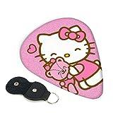 Hello Kitty - Púas para guitarra (6 unidades, incluye púa, fina, mediana, pesada, 0,46 mm, 0,71 mm, 0,96 mm, adultos, hombres, mujeres, adolescentes, 0,71 mm)
