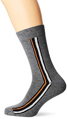 Ben Sherman Herren Gr&y Socken, Mehrfarbig (Grey/Black/Gold Stripe 3PKB), 7/10/2019 (Herstellergröße: 7-11) (3er Pack)