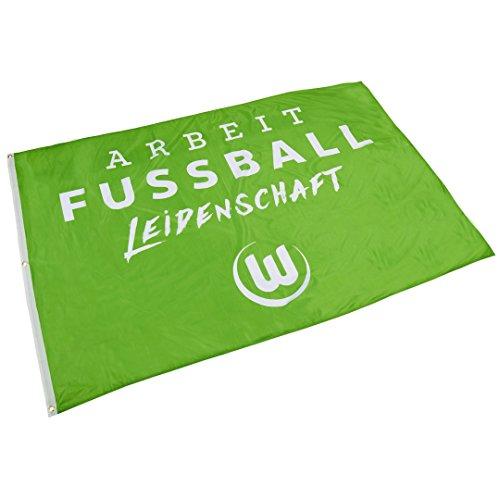 VfL Wolfsburg Hissfahne Arbeit-Fussball-Leidenschaft
