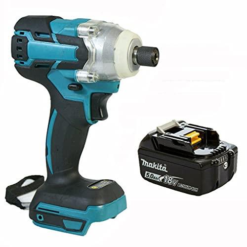 18V Cordless Combi Drill Impact Driver for Makita Power with 5.0Ah 18V Li-ion Battery