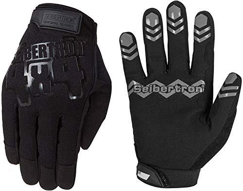 Seibertron Anti Slip Unweighted Basketball Gloves Ball Handling Gloves (Basketball Training Aid) Or Driving Gloves Black L