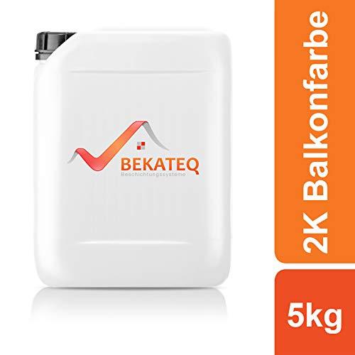 BEKATEQ 2K Epoxidharz für Balkonsanierung BK-300EP - RAL7023 Betongrau - 5KG
