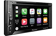 """Double DIN 6.2"""" VGA touchscreen - Power Output: Peak: 50 watts x 4 channels - RMS: 22 watts x 4 channels Apple CarPlay & AppRadio Mode Spotify, Works with Pandora, SiriusXM-Ready Built-in Bluetooth DVD/CD receiver - MIXTRAX"""