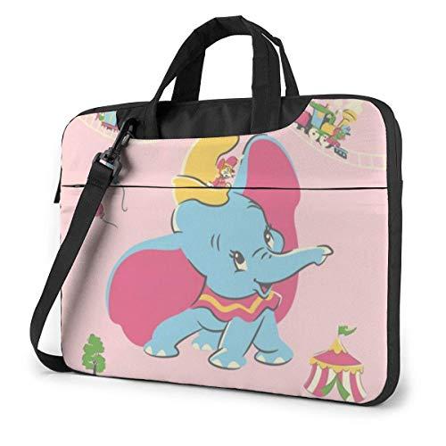 Hdadwy Bolsa para portátil de 15,6 Pulgadas Maletín para Ordenador portátil Dumbo Retro Funda para Bandolera de Hombro