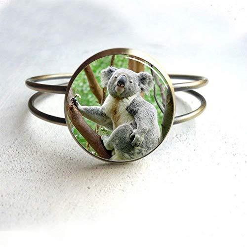 Regalos para pulsera de koala con colgante de oso koala para hombre para ella para él