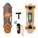 Tooluck Electric Skateboard with Remote, 350W Brushless Motor, 12MPH Top Speed, 8 Miles Range, 3 Speeds Adjustment, Max Load...