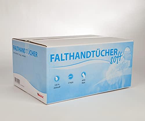 Papierhandtücher 2-lagig hoch weiß ZZ-Falz 4000 Stück (EUR 0,004 / Stück)