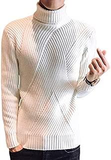 [ラッキーチャーム] 変則リブニット タートルネック カジュアルセーター