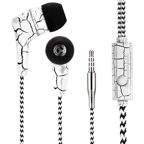 LQZ Braided Wired Stereo Headphone Earphone with Mic