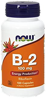 Now Foods, B-2, Riboflavin, Energy Production, 100 mg, 100 Capsules (Packaging May Vary)