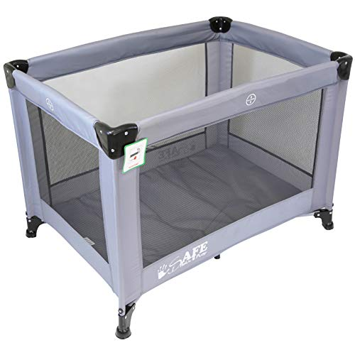 iSafe Roll & Play (96 cm x 66 cm) Luxury Travel Cot/Playpen - (Grey)