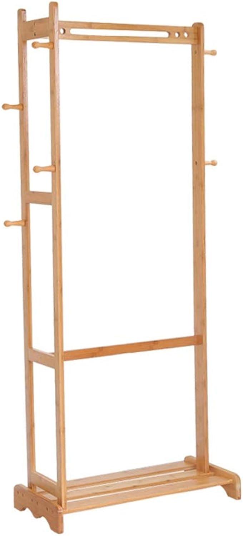 JIAYING Coat Rack, with shoes Rack Storage Organiser with 6 Hooks for Entryway, Hallway, Bedroom, Bathroom, Living Room