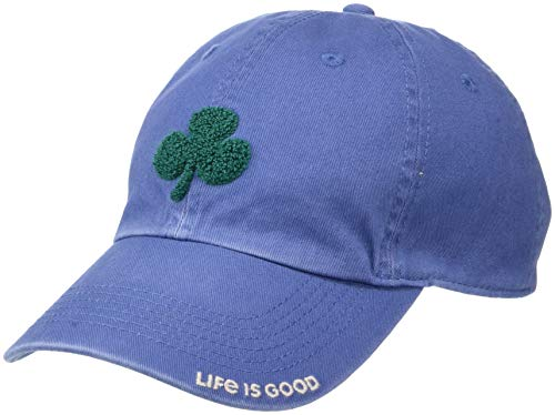 Life is Good Chill Cap Embroidered Brim Baseball Hat, Shamrock Vintage Blue, One Size