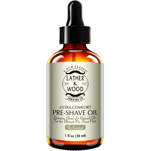 Lather & Wood Shaving Unscented Pre-Shave Oil