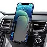 Car Phone Mount, Air Vent Phone Holder, 3-Level Adjustable Clip, Upgrade Clamp Arm, One Button Release, Rotatable Phone Mount Compatible with iPhone 12 11 Pro MAX XS XR X 8 7 6Plus Galaxy S20 Etc